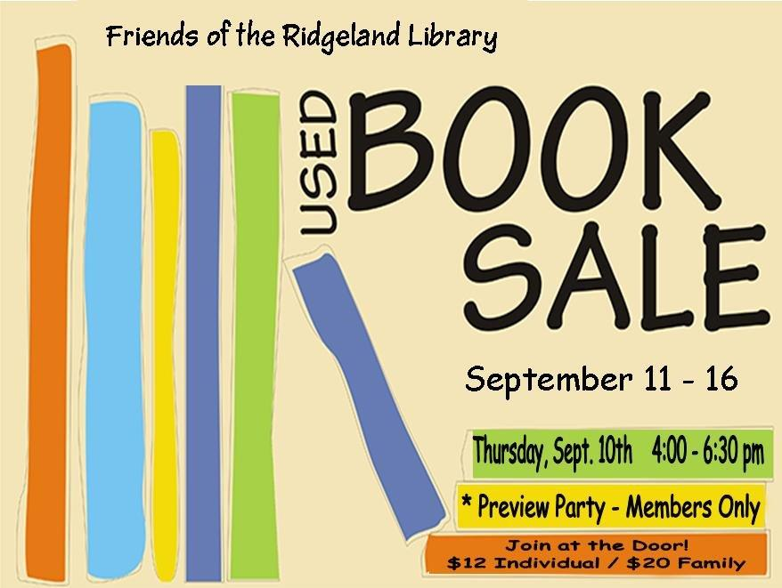 Ridgeland Library Preview Sale for Friends @ Ridgeland Library | Ridgeland | Mississippi | United States