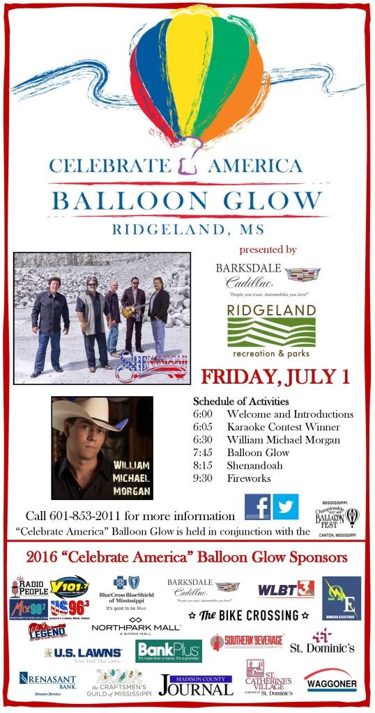 """Celebrate America"" Balloon Glow @ Northpark Mall Balloon Glow field   Ridgeland   Mississippi   United States"