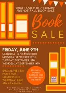 Ridgeland Library Book Sale @ Ridgeland Public Library | Ridgeland | Mississippi | United States