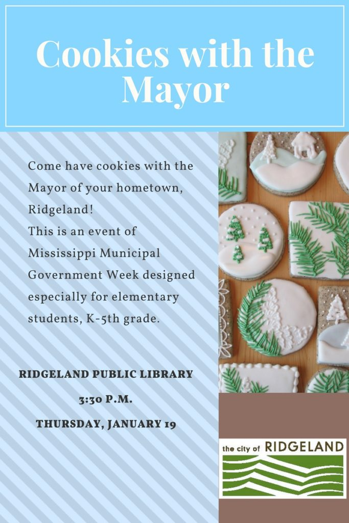 Cookies with the Mayor @ Ridgeland Public Library | Ridgeland | Mississippi | United States