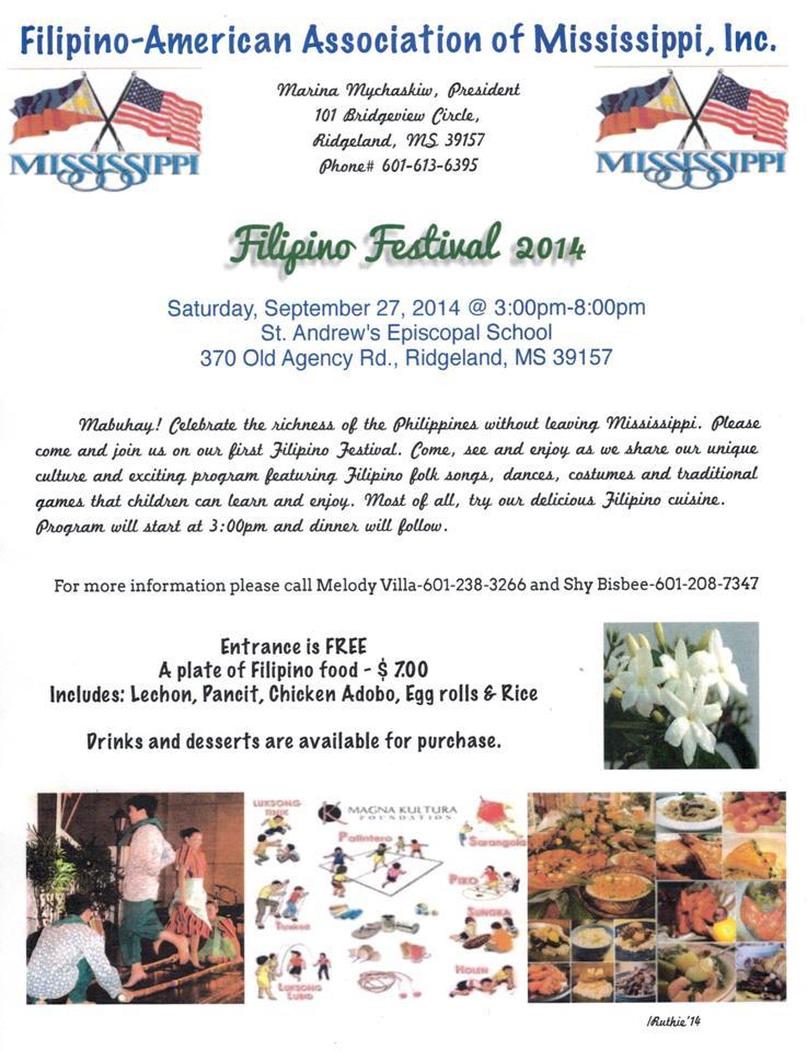 Filipino Festival @ St. Andrew's Episcopal School | Ridgeland | Mississippi | United States