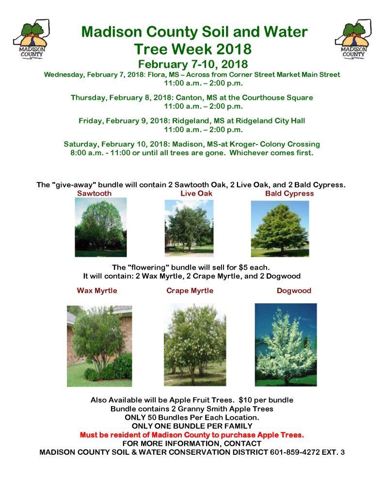 Madison County Soil and Water Tree Week @ Ridgeland City Hall | Ridgeland | Mississippi | United States