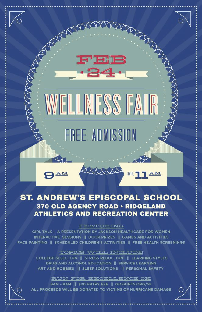Wellness Fair at St. Andrew's @ Athletics and  Recreation Center, St. Andrew's Episcopal School | Ridgeland | Mississippi | United States