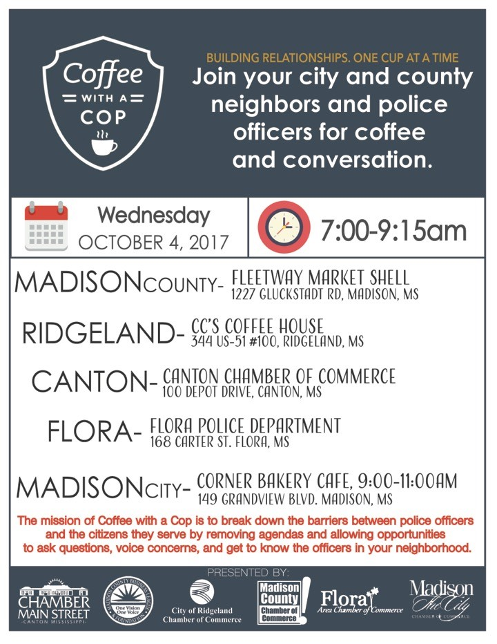 Coffee with a Cop @ CC's Coffee House | Ridgeland | Mississippi | United States