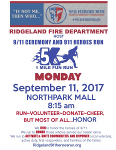 9/11 Ceremony and Heroes Run - Ridgeland, MS @ Northpark Mall | Ridgeland | Mississippi | United States