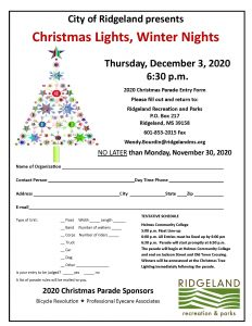 2020 Christmas Parade and Christmas Tree Lighting